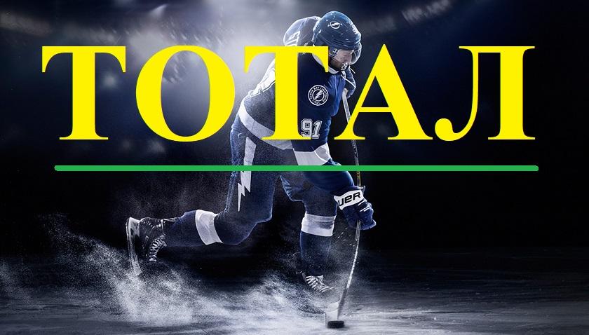 Тотал в хоккее. Что значит ставка?