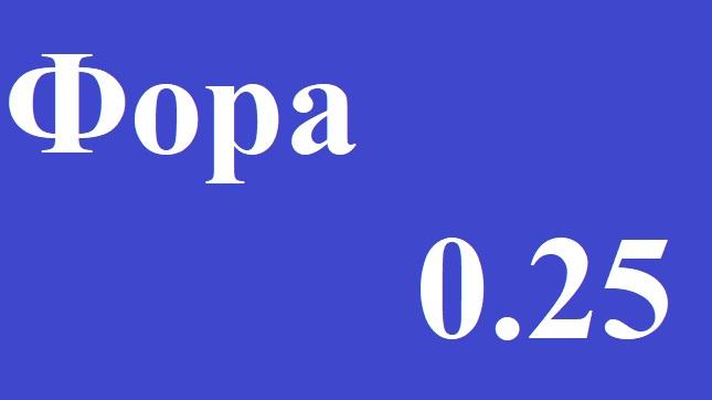 Фора (0.25) и Фора (-0.25). Что значит Ф(0.25) и Ф(-0.25)